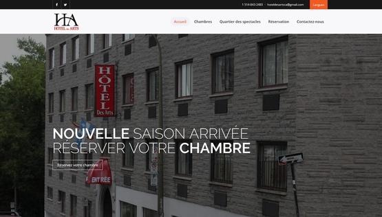 PY网站工作室 - PY Workshop案例-旅馆 Hotel des arts