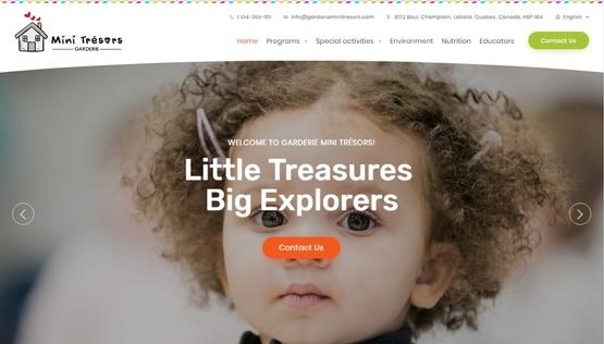 PY网站工作室 - PY Workshop案例-幼儿园 Garderie Mini Trésors
